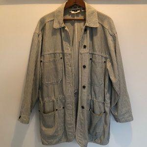 DKNY vintage stripe denim jacket
